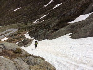 Labouring up the pass
