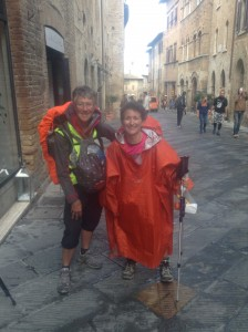 Arriving at San Gimignano
