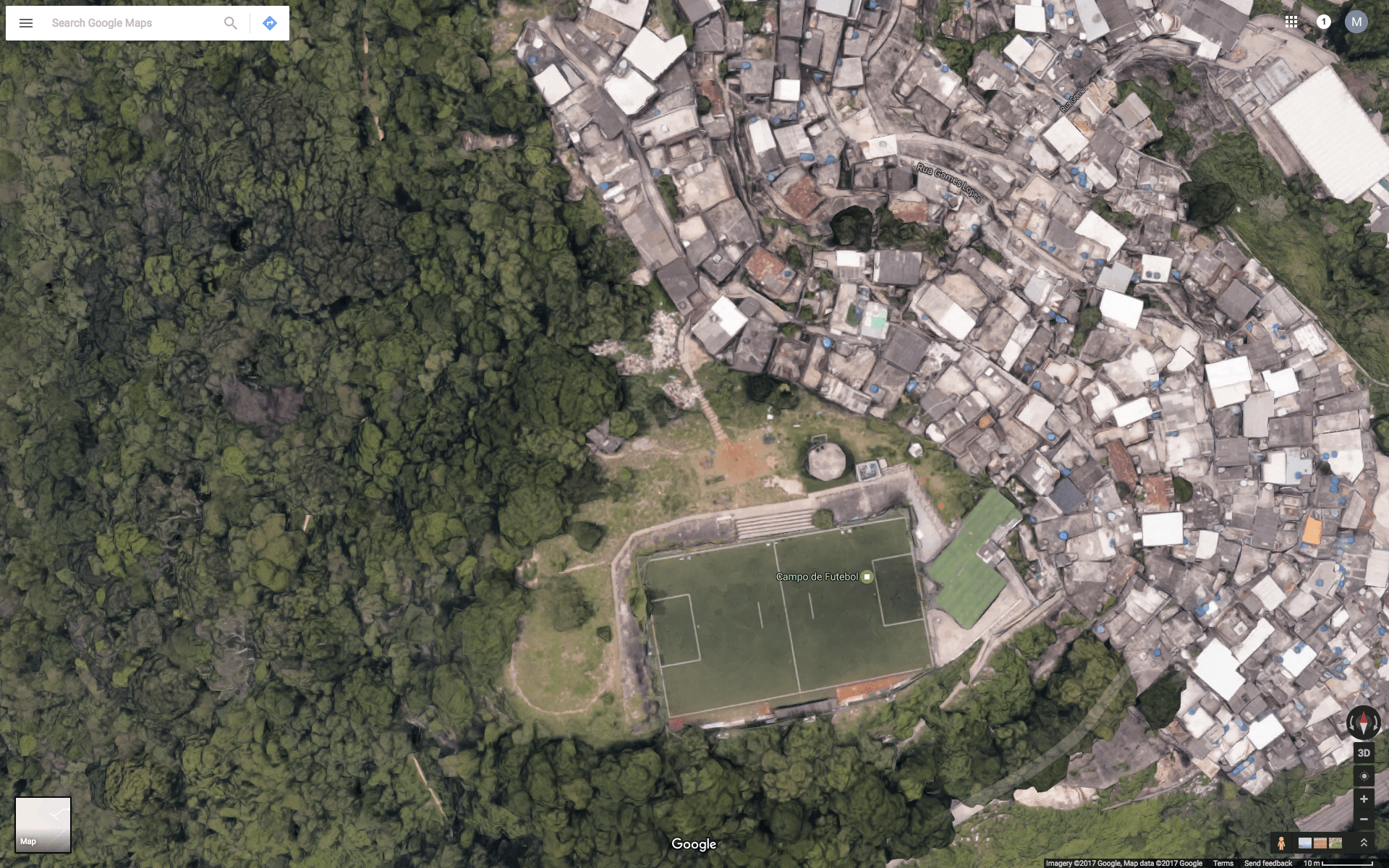Places that are not on Google Maps     Quartz Here is Morro dos Prazeres  a favela in the heart of Rio de Janeiro