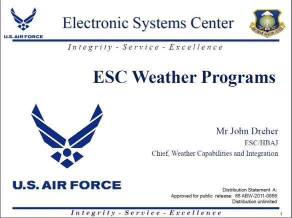 Air Force Weather Weapons System AFWWS 01