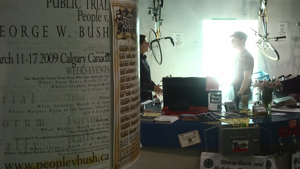 Calgarians discuss Bush visit