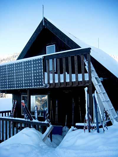 One of many backcountry cabins
