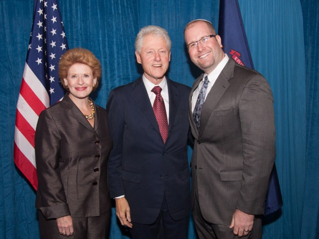 Rabbi Jason Miller with Bill Clinton