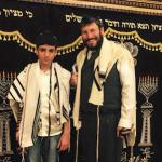 Rabbi Yonah and David at his Bar Mitzvah