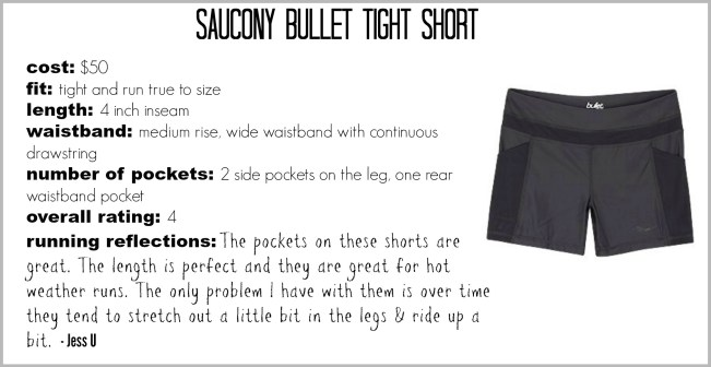 saucony bullet tight short