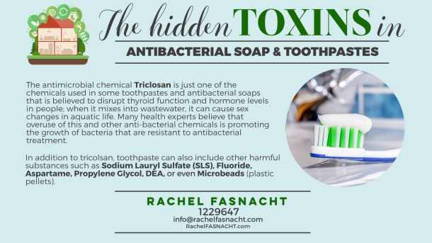 Hidden toxins in antibacterial Soap and toothpaste