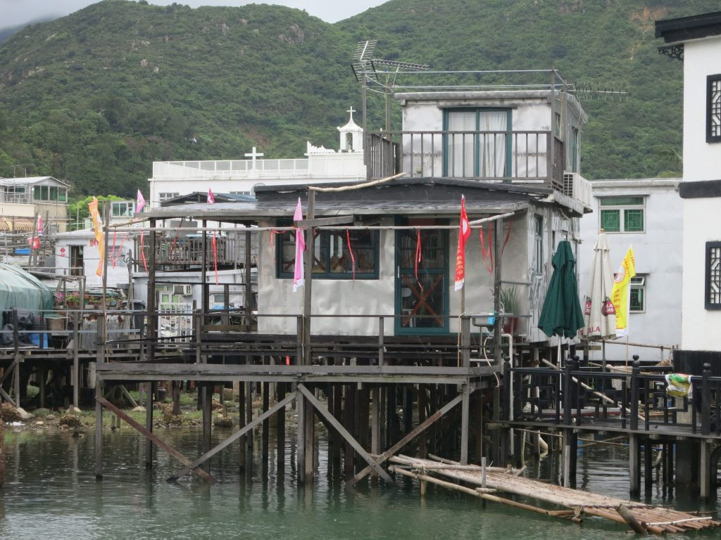 a stilt house in Tai O
