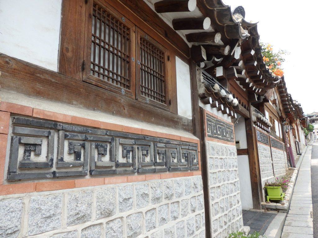 exterior of a hanok in Buckchon Hanok Village, Seoul
