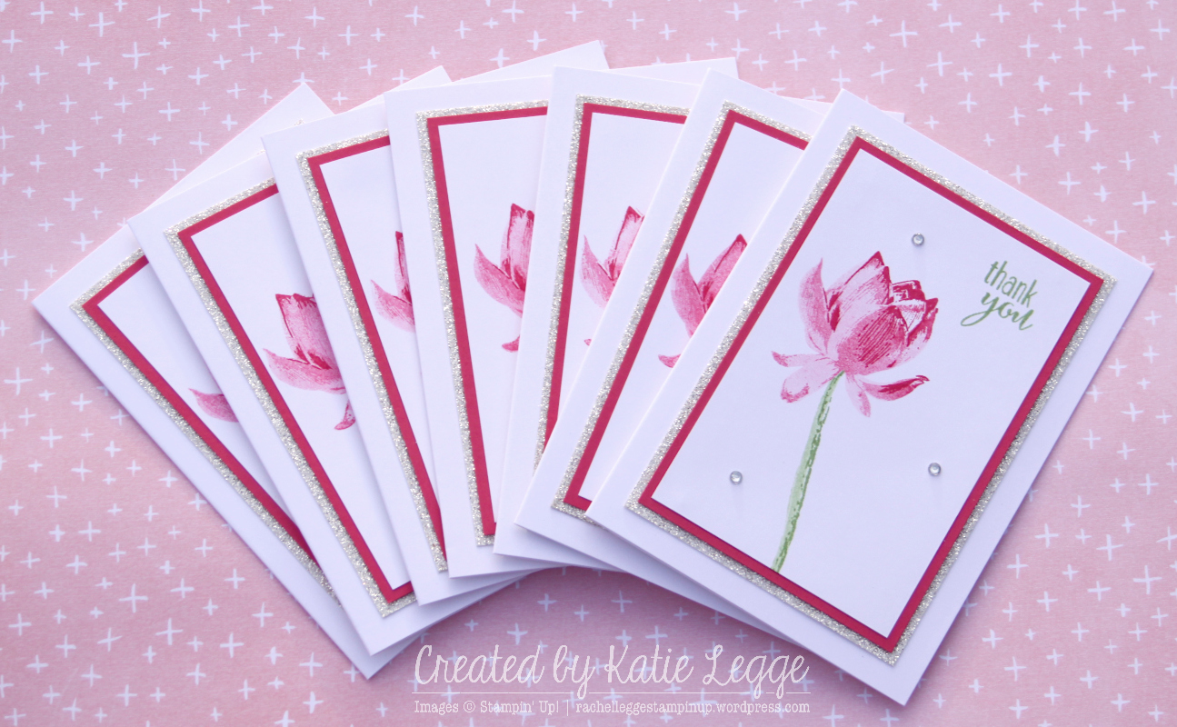 Rousing Stampin Up Easy Strawberry Slush Lotus Blossom Thank You Notecards Set Created By Katie Legge Rachelleggestampinup Wordpress Com Easy Note Cards Respiratorty Easy Note Cards By Powell cards Easy Note Cards