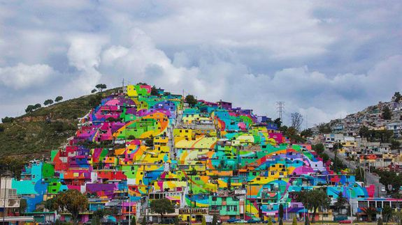 Mexico-hill-painted-homes-