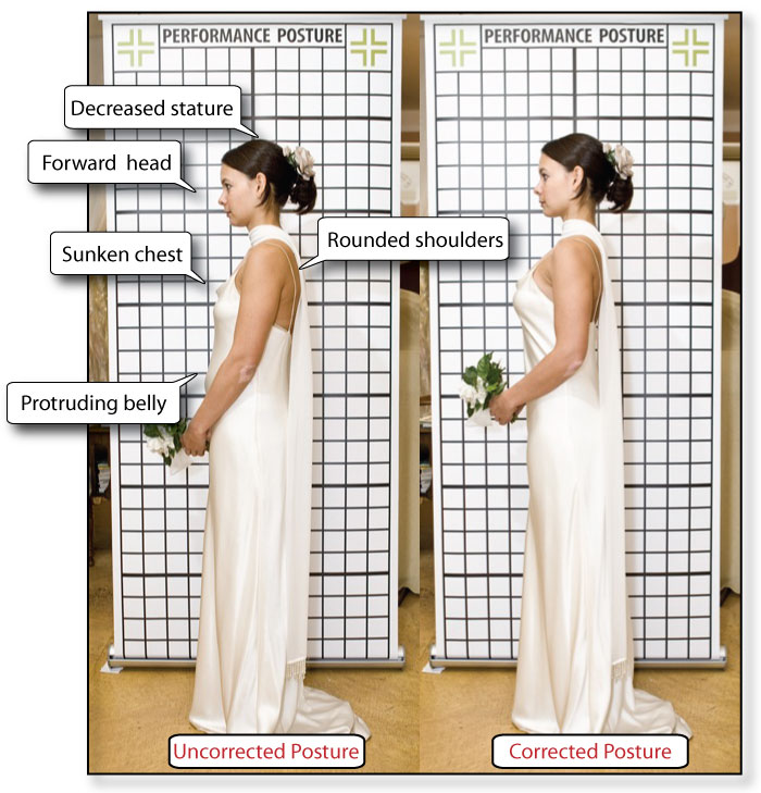 Perfect posture for brides by Shari Zisk