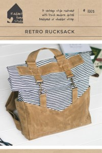 Retro Rucksack Sewing Pattern   Radant Home Studio