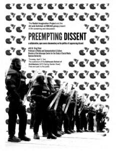 preempting dissent poster