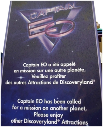 Captain EO closed