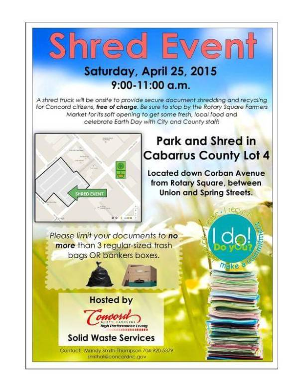 shred event in concord 4-25-15