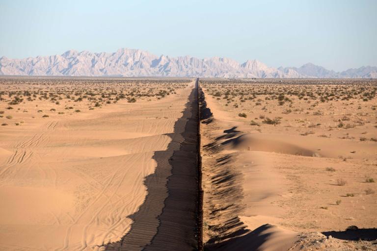 Parte de la frontera entre México y Estados Unidos el 16 de febrero de 2017 en San Luis Río Colorado, estado de Sonora AFP/Archivos / Guillermo Arias