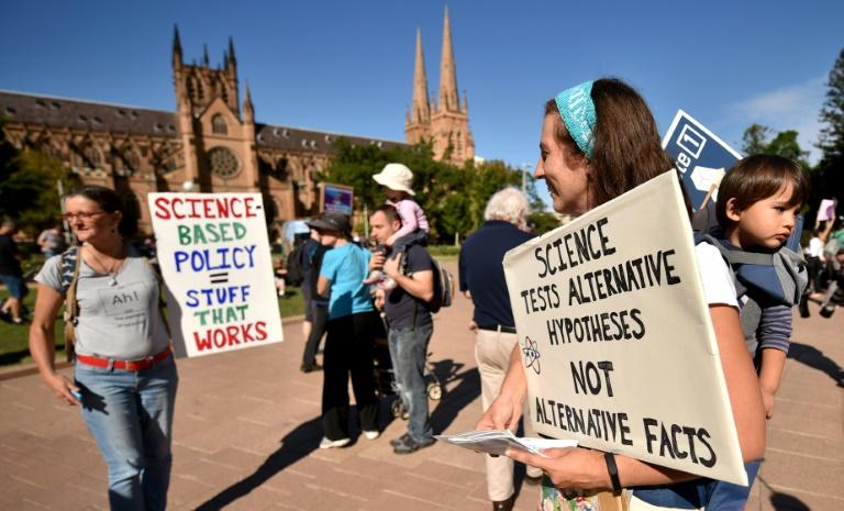 Manifestación por la ciencia en Sídney el 22 de abril de 2017  AFP / Peter Parks