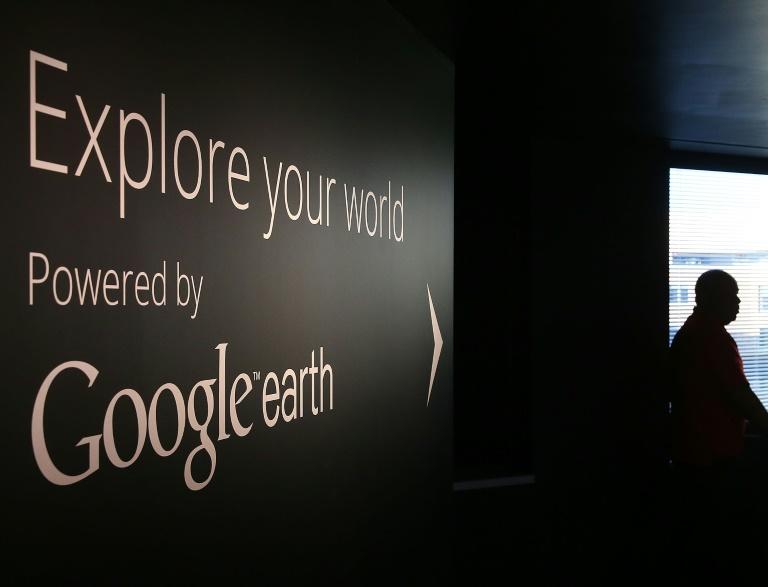 Getty Images/AFP / Mark WilsonVista de una pared de la sede de Google en Washington, el 8 de enero de 2015