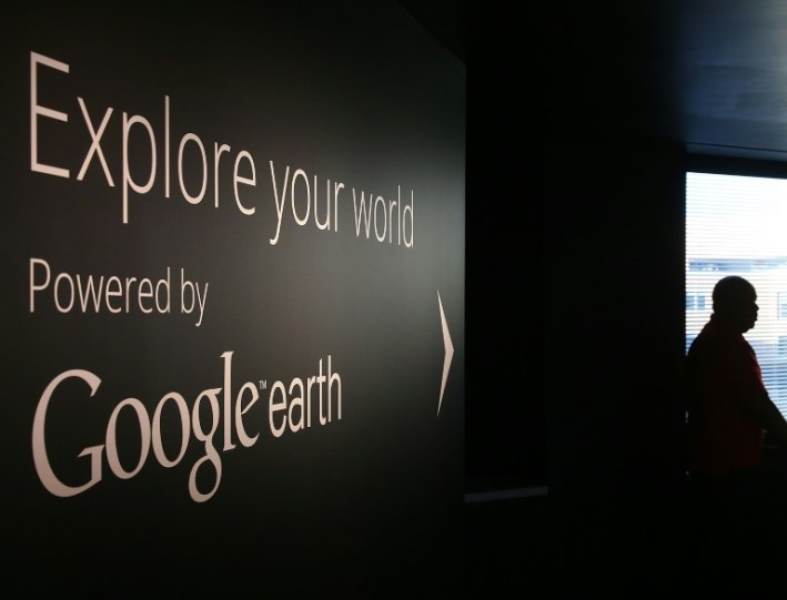 Getty Images/AFP / Mark Wilson Vista de una pared de la sede de Google en Washington, el 8 de enero de 2015