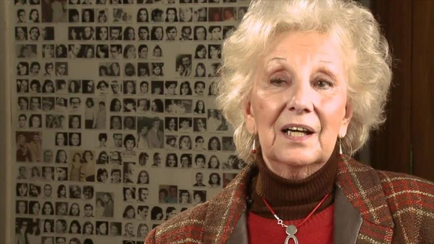 La presidenta de la Asociación argentina Abuelas de Plaza de Mayo, Estela de Carlotto.