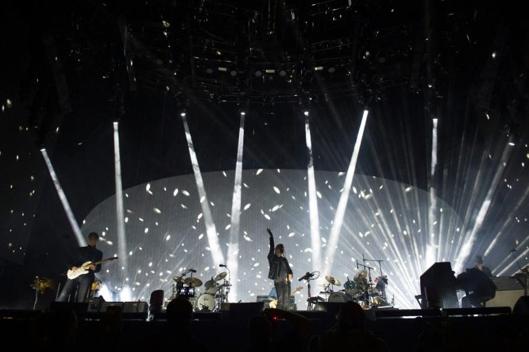 La banda Radiohead en concierto durante el Festival de Coachella el Indio, California, el 14 de abril de 2017 AFP/Archivos / VALERIE MACON