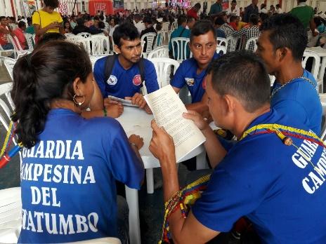 Guardia Campesina del Catatumbo participa en mesas de trabajo del Diálogo Útil en Cúcuta