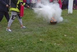 Copiii din raionul Orhei fac cunoștință cu activitatea pompierilor