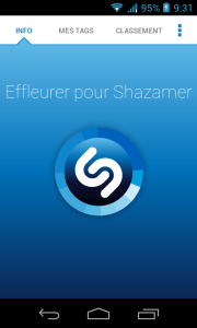 Shazam pour Android