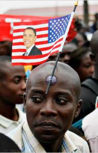 Obama-Ghana-flag-stuck-truc