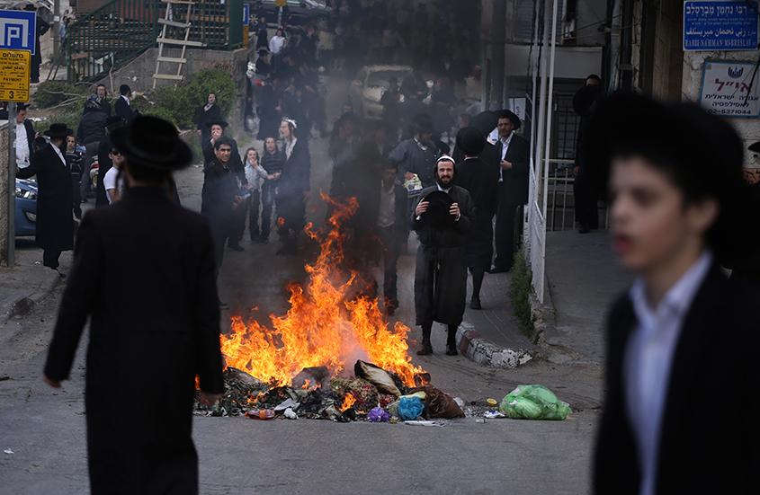 ISRAEL-POLITICS-MILITARY-JUDAISM-ARREST-DEMO