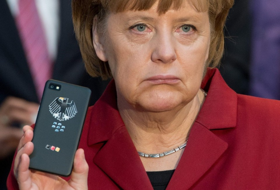 German Chancellor Angela Merkel's mobile phone may have been tapped by US secret services
