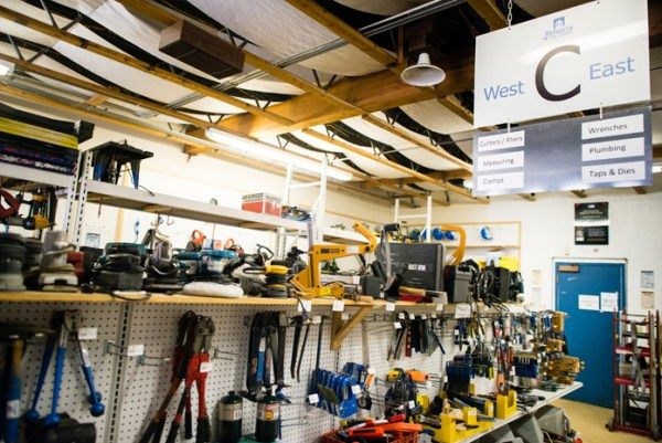 In Boulder, Colorado the Tool Library looks much like a hardware store and even rents out tools to contractors to help subsidize rental costs and membership fees for the general public.