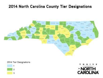 NC County Tier Map 2014