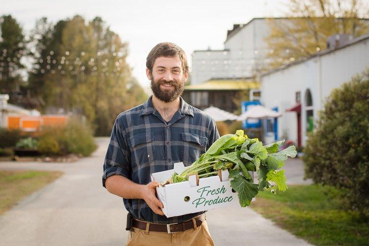 Geoff Seleen, culinary expert at the Piedmont Biofarm