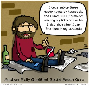 Comic of Hobo Explaining His Social Media Guru Experience