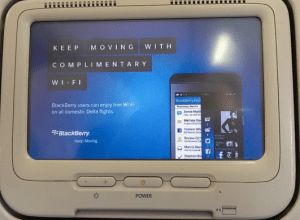 Headrest Screen Advertising Blackberry Gogo In-Flight Wifi