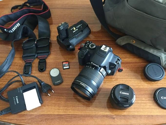 Wir verkaufen unsere DSLR-Kamera