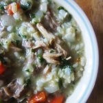 Turkey, Rice, and Kale Soup