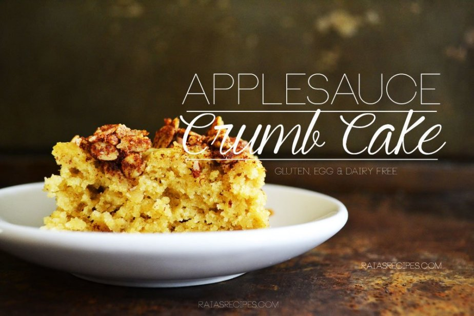 Applesauce Crumb Cake | gluten, egg, dairy & refined sugar-free | RaiasRecipes.com
