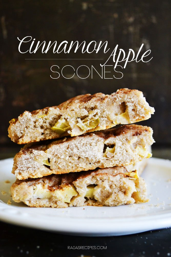 Cinnamon Apple Scones | gluten-free, dairy-free, refined sugar-free | RaiasRecipes.com