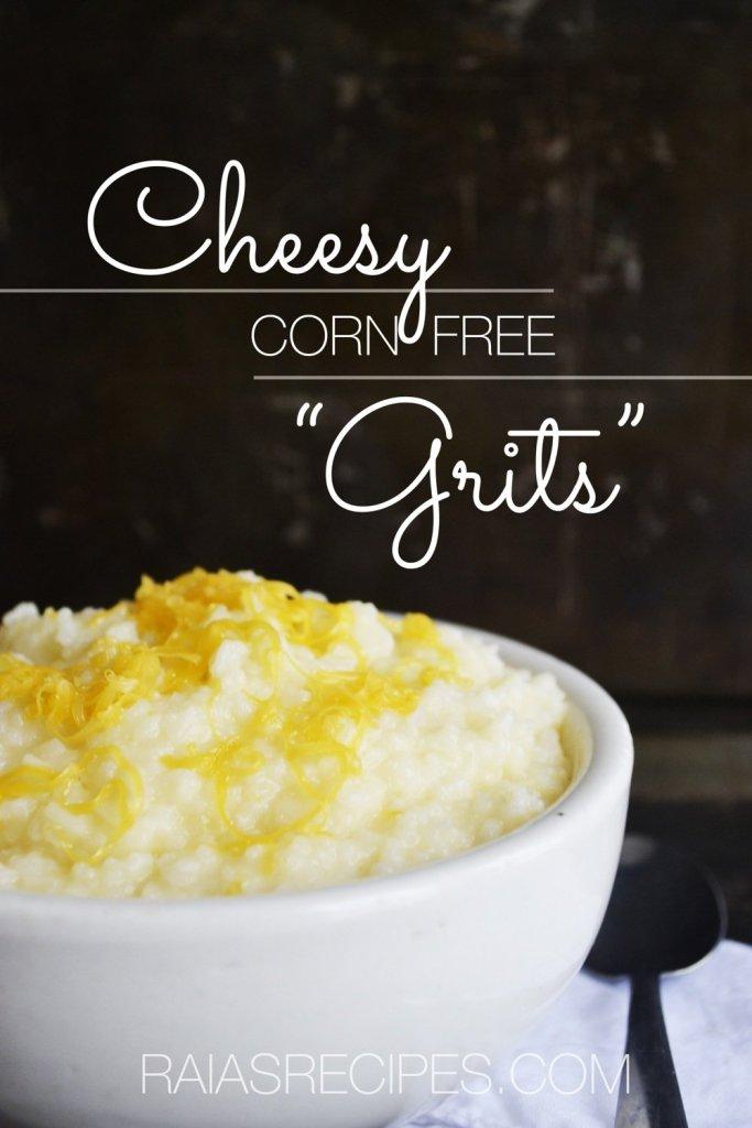 Cheesy Faux Grits | gluten-free, corn-free, egg-free, sugar-free | RaiasRecipes.com