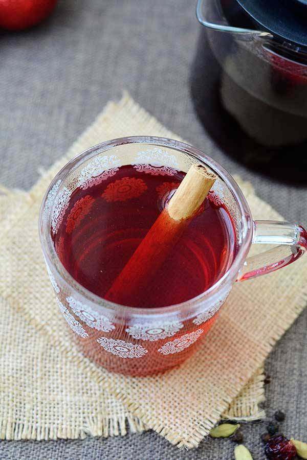 Mulled Hibiscus Tea from Natural Fit Foodie | Savoring Saturdays Weekly Gluten-Free Linky Party at RaiasRecipes.com