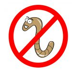 No worms sign illustration isolated on white