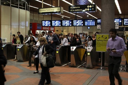 Ticket barriers at Flagstaff station: it'd be nice if they worked faster...