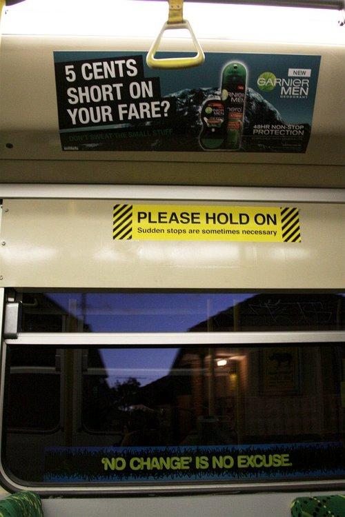 Best juxtaposition EVER aboard a Z3 class tram.