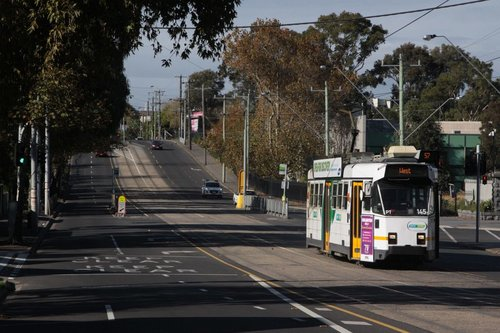Z3.145 heads north on route 57 past Flemington Racecourse