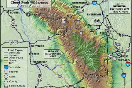 Map Of Big Horn Mountains - Bighorn mountains map us