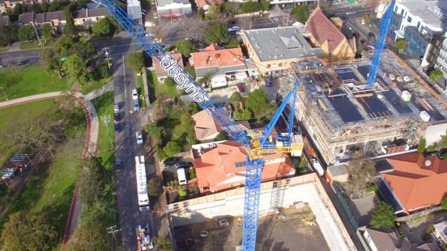 Clark Cranes erects 71st Raimondi crane in Melbourne