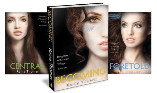dofs-becoming-l2 Books to Movies Celebration: Raine Thomas' Daughters of Saraqael Trilogy Sale & Giveaway