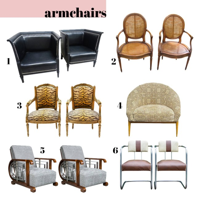 best armchairs modern antique